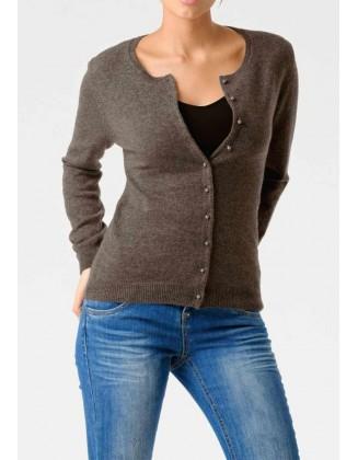 Rudas kašmyro megztinis su sagutėmis