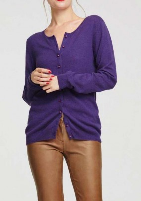 Cashmere cardigan, purple