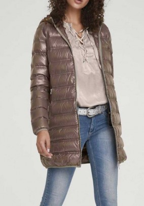 Down coat, taupe