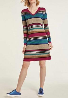 Fine knit dress, multicolour