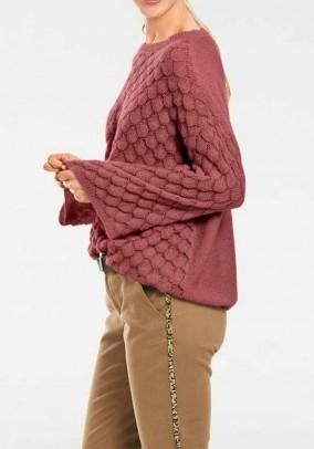"Rausvas laisvas megztinis ""Spot"""