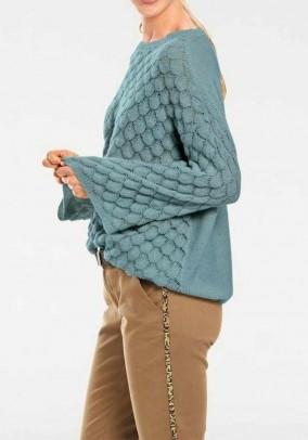 "Melsvas laisvas megztinis ""Spot"""
