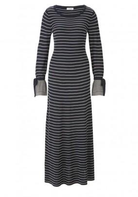 Maxi knit dress, blue-sand