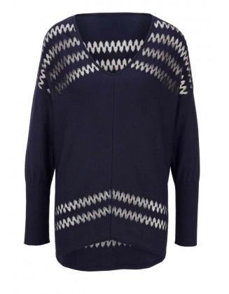 """Tamsiai mėlynas megztinis """"Delta"""""""