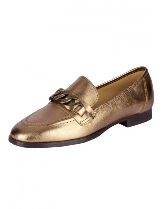 Auksiniai odiniai bateliai