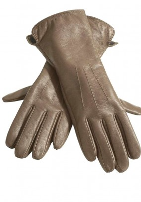 Nappa leather glove, camel