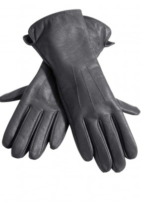 Nappa leather gloves, grey