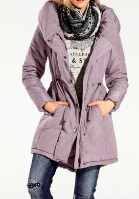 Šviesiai violetinės spalvos paltas