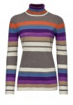Dryžuotas kašmyro megztinis