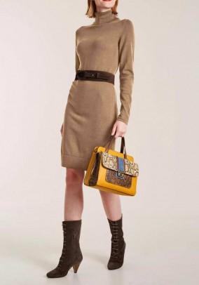 Knit dress, camel