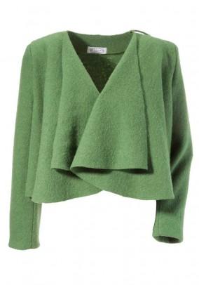 Felt blazer, green
