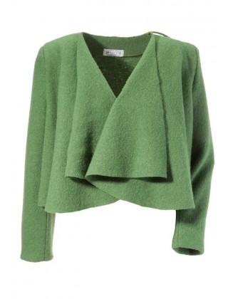 Žalias vilnonis švarkelis