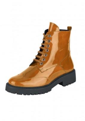 Lakinės odos oranžiniai batai