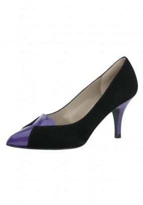 Velours pumps, black-purple