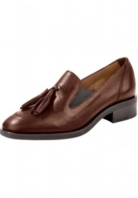 Leather slippers, brown