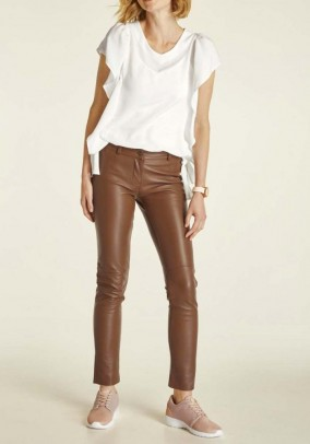 Leather leggings, nugat