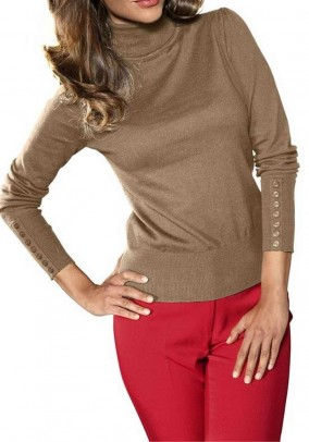 Turtleneck cashmere, camel