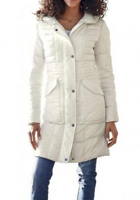 Šviesus pūkinis paltas. Liko 40 dydis