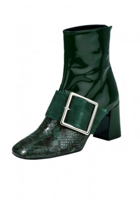 Leather boots, green