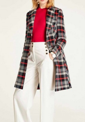 Checked coat, multicolour