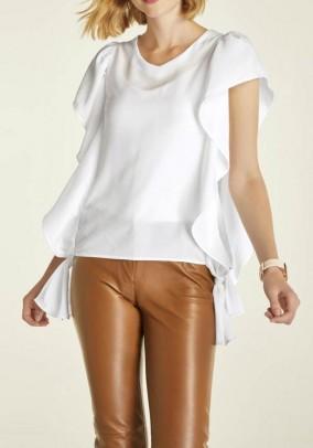 Flounce blouse, offwhite