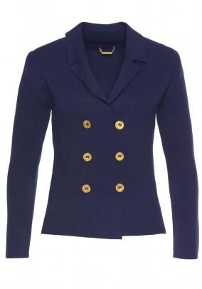 Knit blazer, navy
