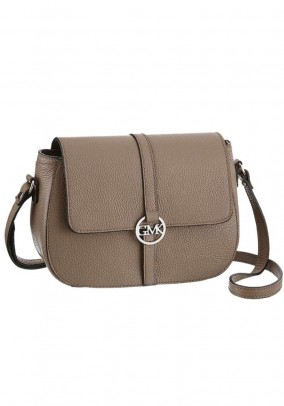Leather bag, taupe