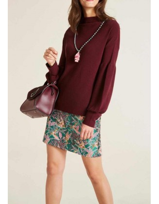 Bordo spalvos megztinis