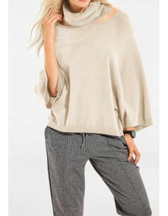 Smėlinis megztinis su šaliu