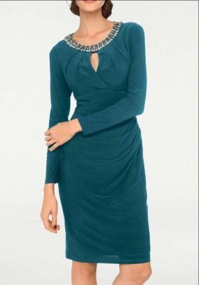 Smaragdinė kokteilinė suknelė. Liko 42 dydis