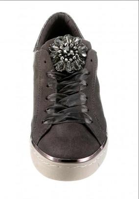 Brand sneaker m. Rhinestones, anthracite