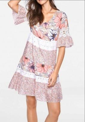 Patch dress w. Lace, colorful