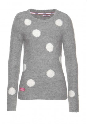 Sweater, grey-offwhite