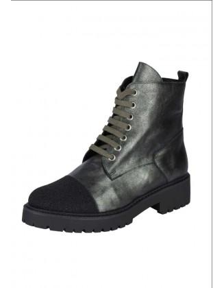 Žalsvi natūralios odos batai