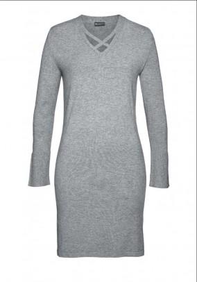 Fine knit dress, grey blend