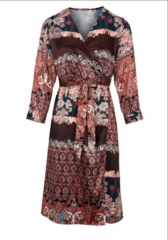 Wrap dress, multicolour