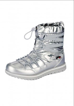 Boots, silver coloured