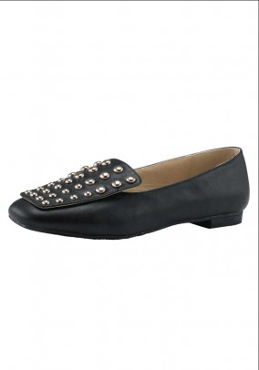 Slipper with rivets, black