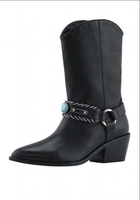 Cowboy boots, black
