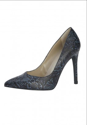 Leather pumps, navy