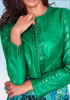 Trumpas odinis žalias švarkas