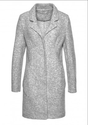 Short coat, gray melange