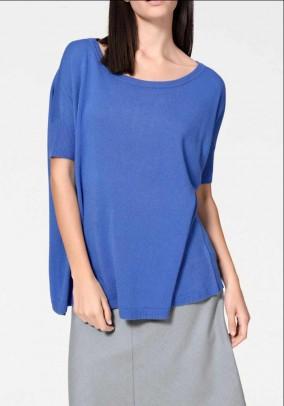 Mėlynas platus megztinis