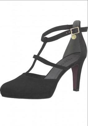 Branded clasp pumps, black