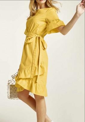 Dress m. Ruffles, yellow