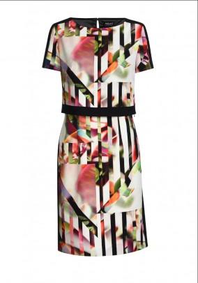 Designer print dress, 2 pieces, colorful