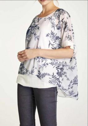 Print blouse Sequins, colorful