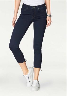 Brand Jeans w. Lacing, dark blue
