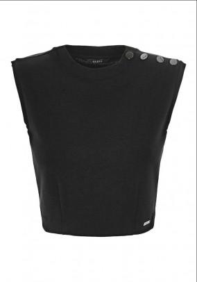 Brand short top, black