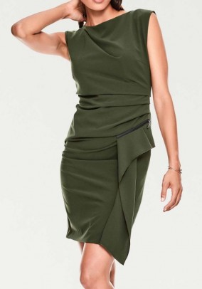 Sheath dress, khaki